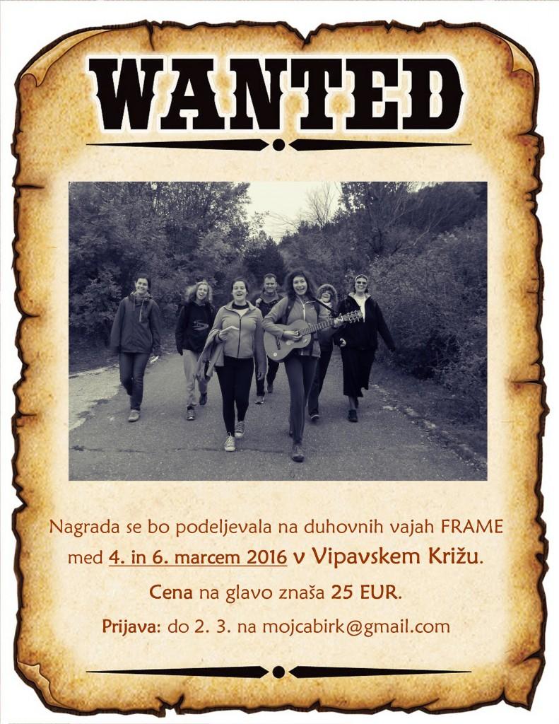 wanted-vabilo